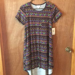 NWT patterned LulaRoe Carly dress